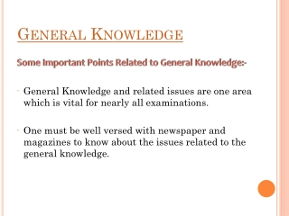 Importance of General Knowledge