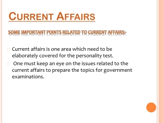 Know more about Current Affairs