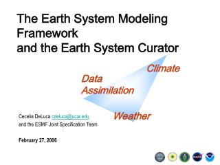 The Earth System Modeling Framework and the Earth System Curator
