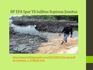 BP EPA Spar Yli hallitus Sopimus Jousitus