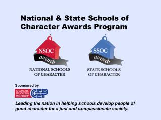 National & State Schools of Character Awards Program