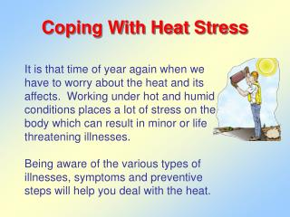Coping With Heat Stress