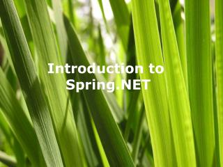 Introduction to  Spring.NET