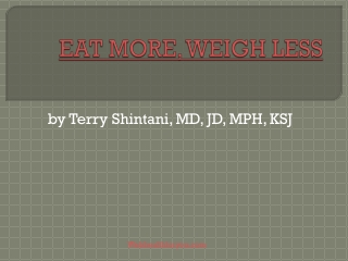 Eat more weigh less Cookbook 22