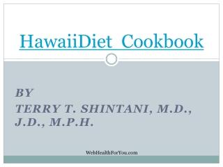 Hawaii Diet Cookbook Spiral 22