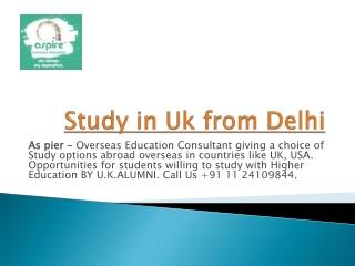 Study in UK from delhi