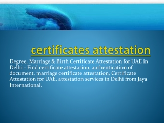 certificates attestation