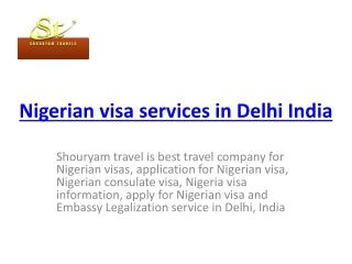 Nigerian visa service in Delhi India