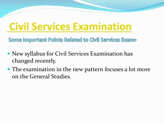 Civil Services Examination
