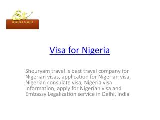 visa for nigeria