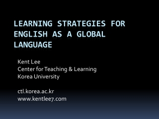 Learning English as a global language