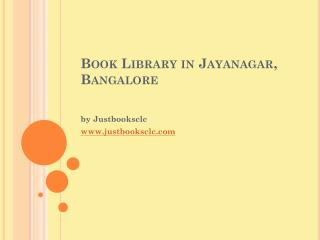 Online Book Library at Jayanagar