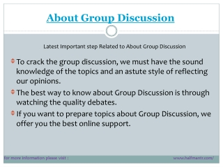 some points About Group Discussion