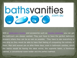 Bathroom Vanities Are Available In Many Different Styles