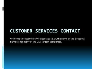 Customer Service Contact