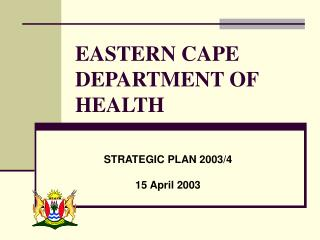 EASTERN CAPE DEPARTMENT OF HEALTH