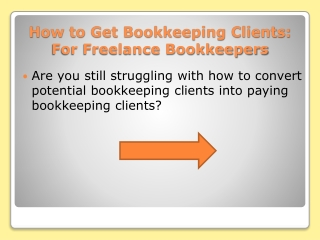 How to Convert Potential Bookkeeping Clients