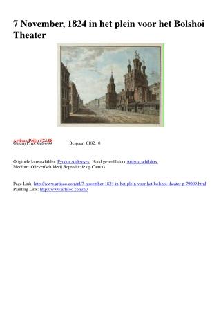 7 November, 1824 in het plein voor het Bolshoi Theater - Art