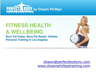 Perfect Body Inc - Services