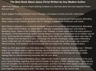 The Best Book About Jesus Christ Written by Any Modern Autho