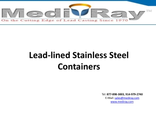 Lead-lined Stainless Steel Containers