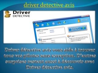 driver detective avis