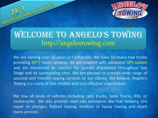 Welcome To Angelo's Towing