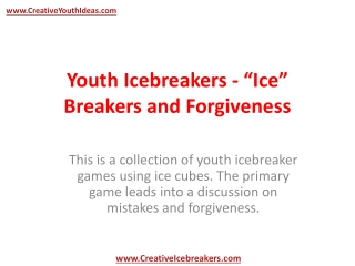 Youth Icebreakers -