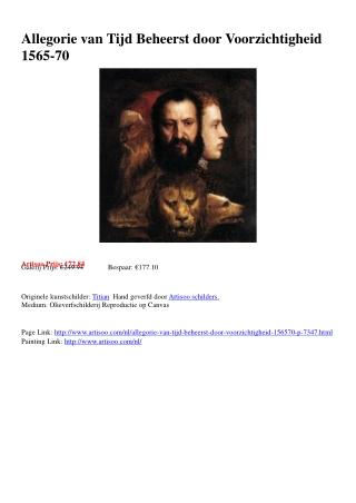 Allegorie van Tijd Beheerst door Voorzichtigheid 1565-70 - A
