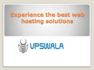 Experience the best web hosting solutions
