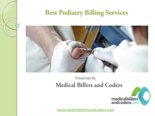 Podiatry Medical Billing Services