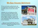 Sell Your House Fast Baltimore