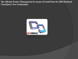 The efficient Project Management by means of GanttChart for