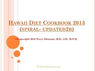 Hawaii Diet Cookbook 2013 (spiral-updated)26