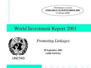 World Investment Report 2001