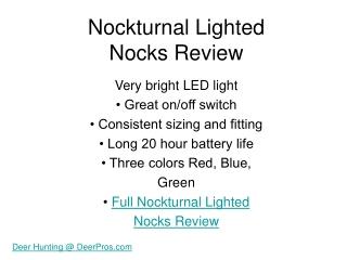 Nockturnal Nocks Review