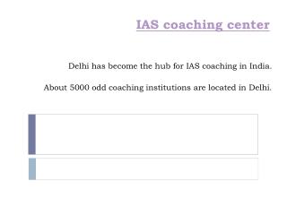 IAS Coaching center