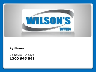 Wilsons Towing - Vehicle Towing