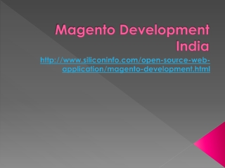 Magento Developers India