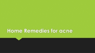 Home remedy for acne