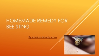 Home remedy for bee sting