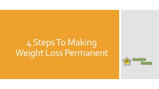 4 steps to making weight loss permanent