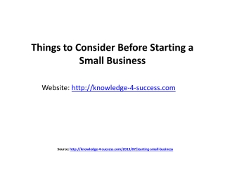 Things to Consider Before Starting a Small Business