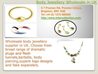 Body Jewellery Wholesale in UK