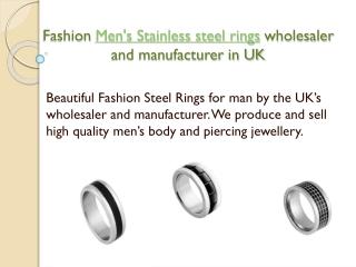 Fashion Steel Men's rings wholesaler and manufacturer