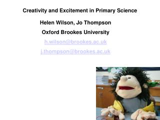 Creativity and Excitement in Primary Science