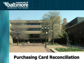 Purchasing Card Reconciliation