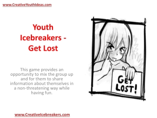 Youth Icebreakers - Get Lost