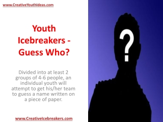 Youth Icebreakers - Guess Who?