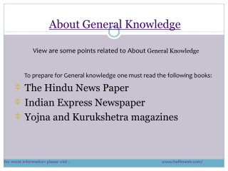 Content About general knowledge